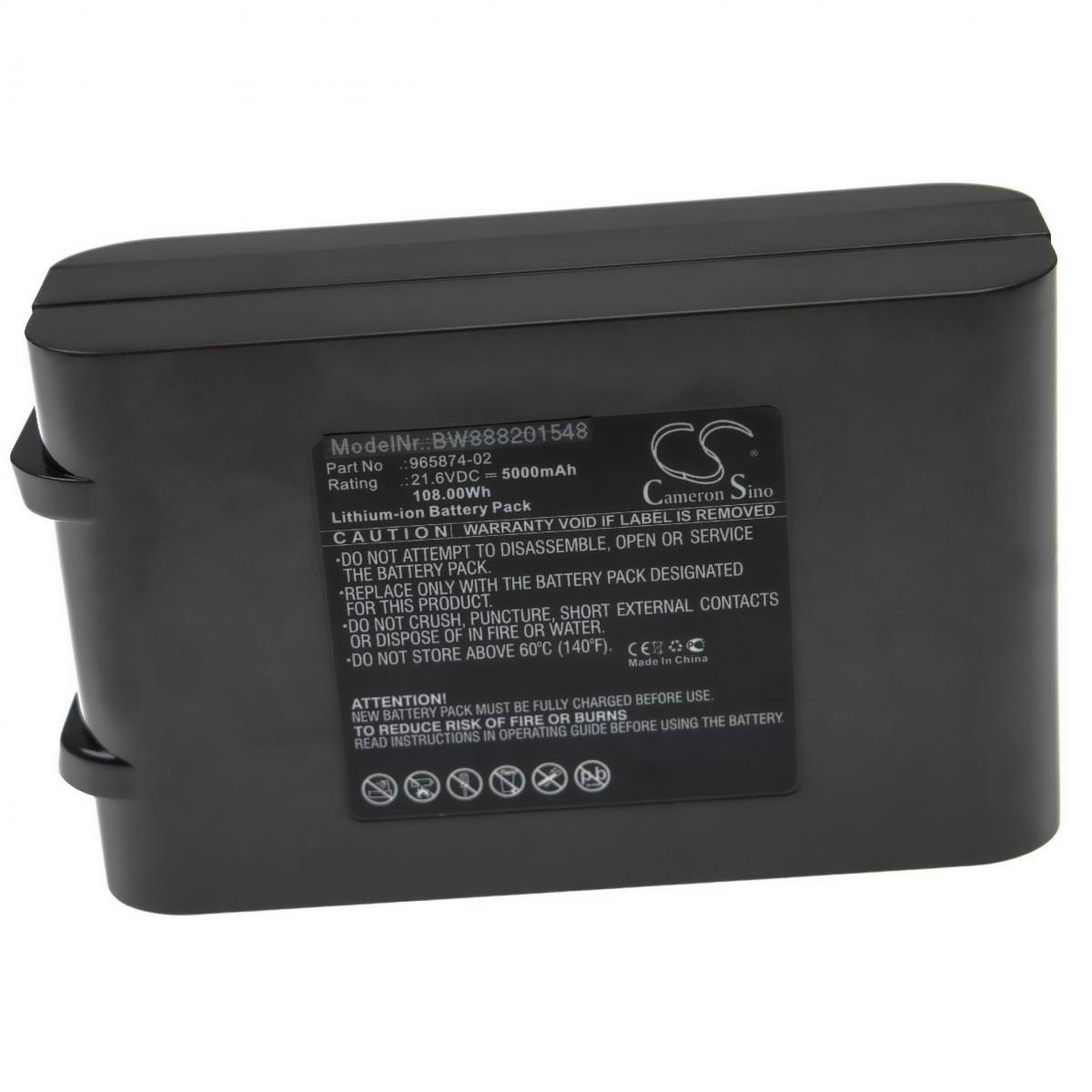 Vhbw vhbw batterie compatible avec Dyson V6 Up Top, V6 Total Clean, DC62 Animal aspirateur Home Cleaner (5000mAh, 21,6V, Li-I