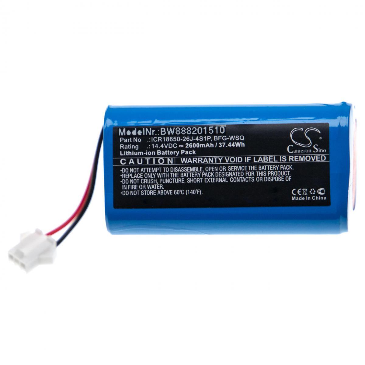 Vhbw vhbw batterie compatible avec Ecovacs Deebot 601, 605, DN622 aspirateur Home Cleaner (2600mAh, 14,4V, Li-ion)