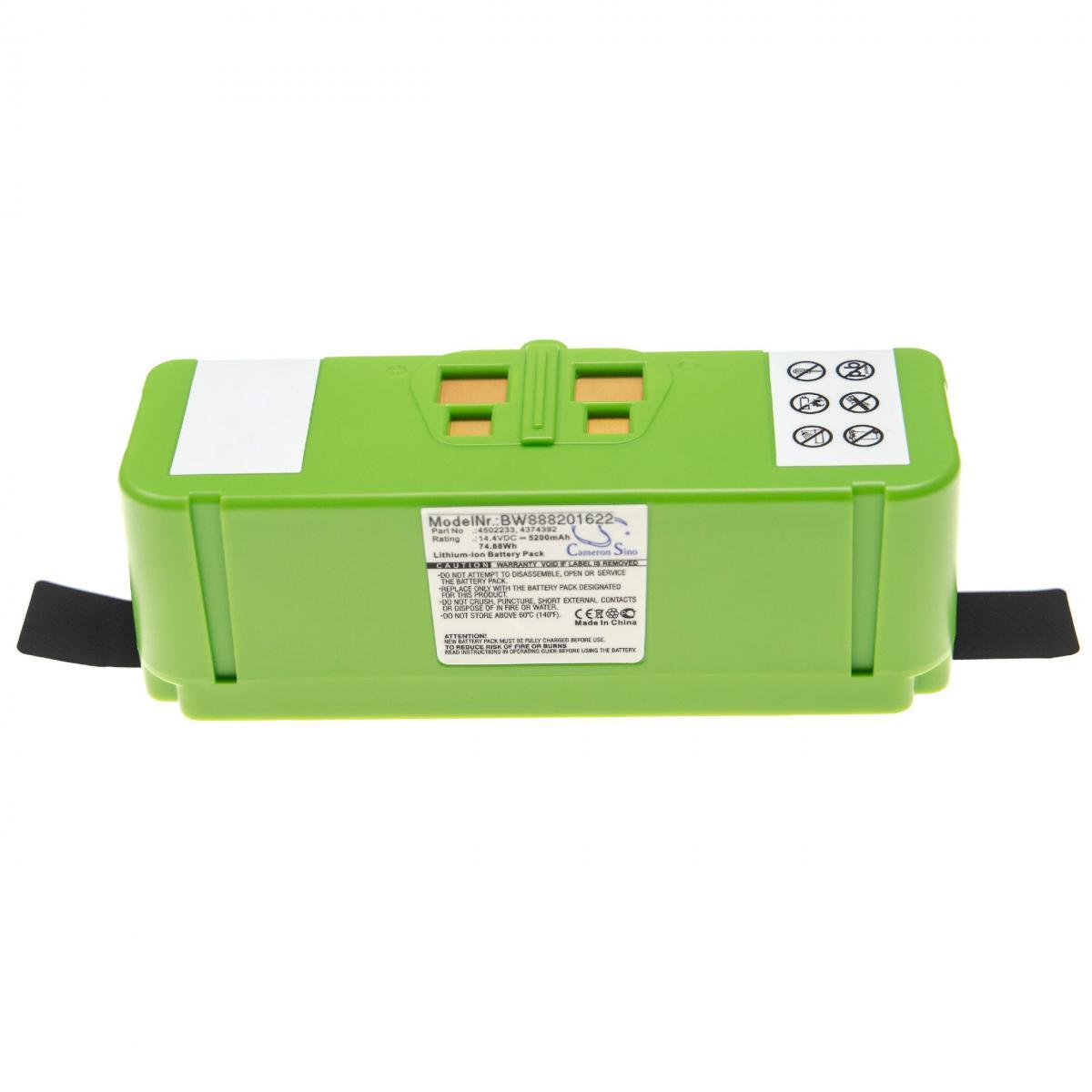 Vhbw vhbw batterie compatible avec iRobot Roomba 614, 615, 640, 652, 665, 670, 671, 675 robot électroménager (5200mAh, 14,4V,