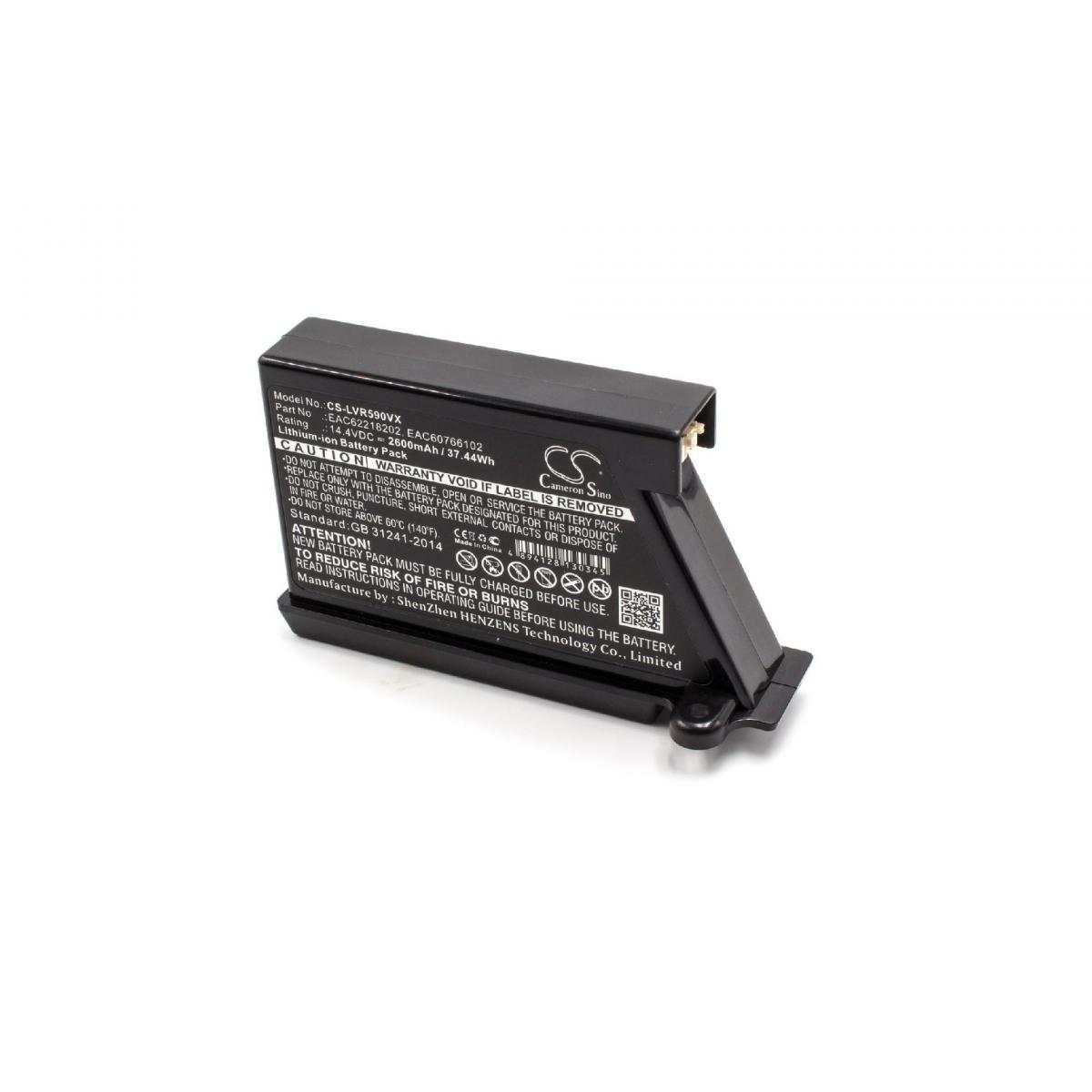 Vhbw vhbw Batterie compatible avec LG HOM-BOT VR64701LVM, VR64702LVMP, VR65502LV robot électroménager (2600mAh, 14,4V, Li-ion