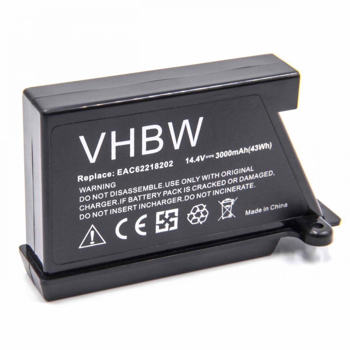 Vhbw vhbw Batterie compatible avec LG HOM-BOT VR65710LVMP, VR65713LVM, VR65715LVM robot électroménager (3000mAh, 14,4V, Li-io