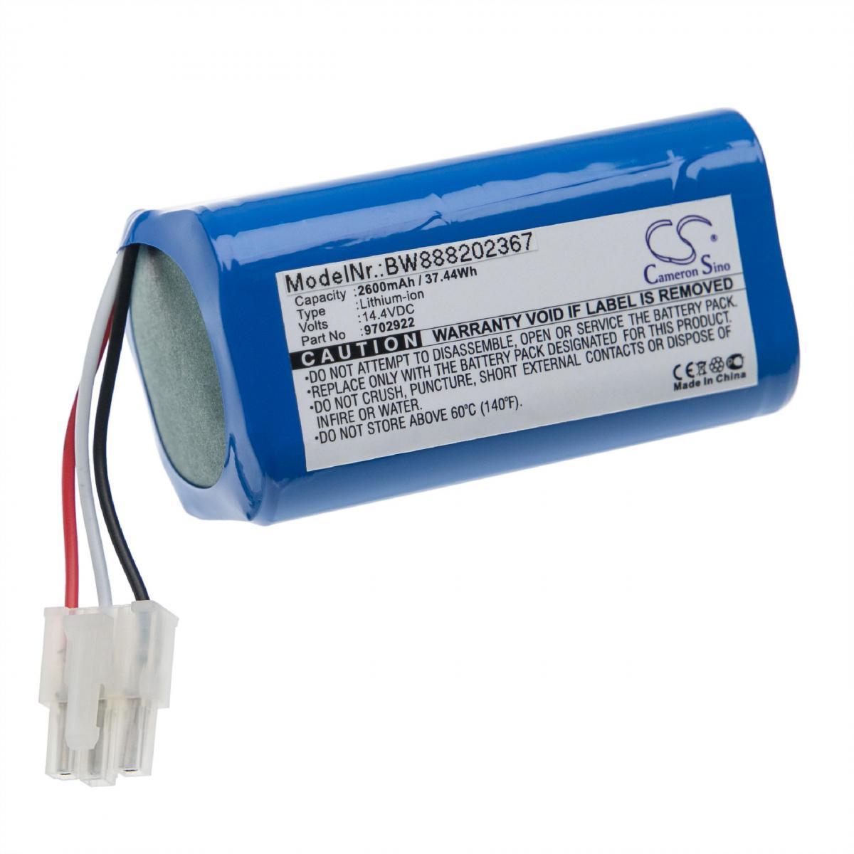 Vhbw vhbw Batterie compatible avec Miele RX1-SJQL0, Scout RX1 aspirateur, robot électroménager (2600mAh, 14,4V, Li-ion)