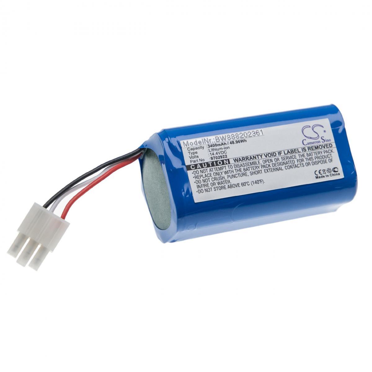 Vhbw vhbw Batterie compatible avec Miele RX1-SJQL0, Scout RX1 aspirateur, robot électroménager (3400mAh, 14,4V, Li-ion)