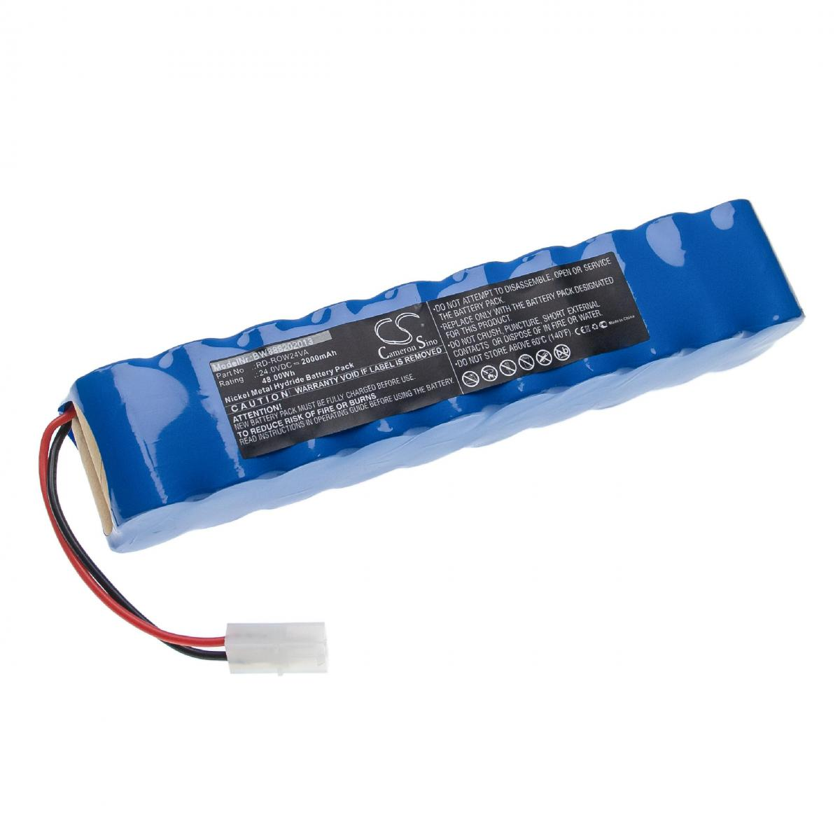 Vhbw vhbw batterie compatible avec Rowenta Air Force Extreme RH8828, RH8828WO/2D0 aspirateur Home Cleaner (2000mAh, 24V, NiMH