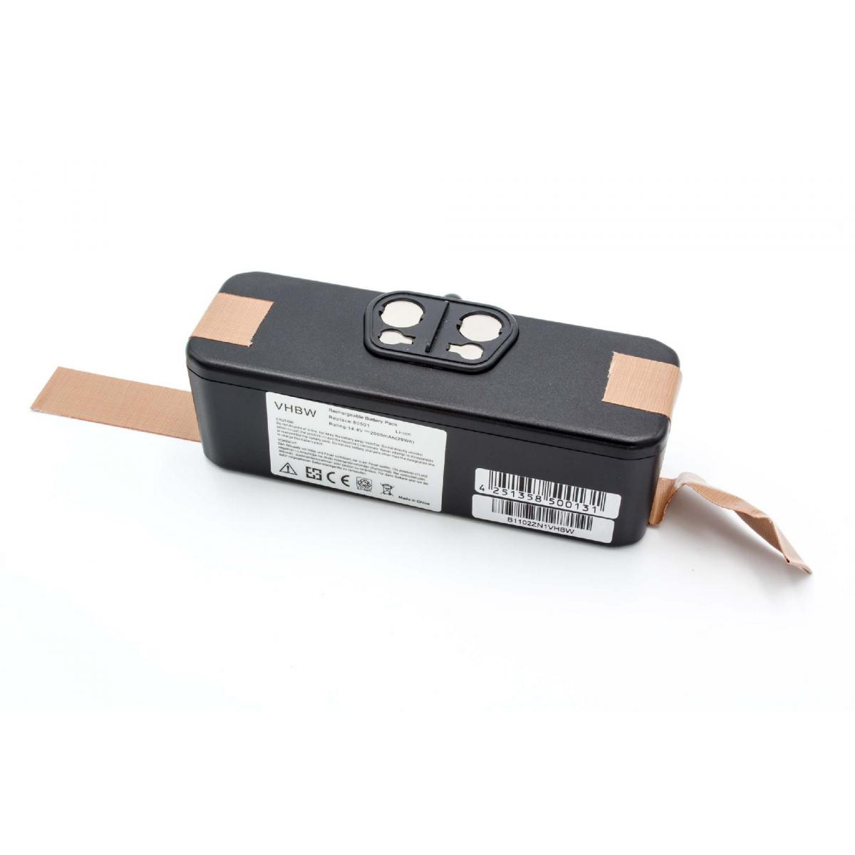 Vhbw vhbw Batterie Li-Ion 2000mAh (14.4V) compatible avec iRobot Roomba 611, Roomba 612, Roomba 614, Roomba 618, Roomba 681,