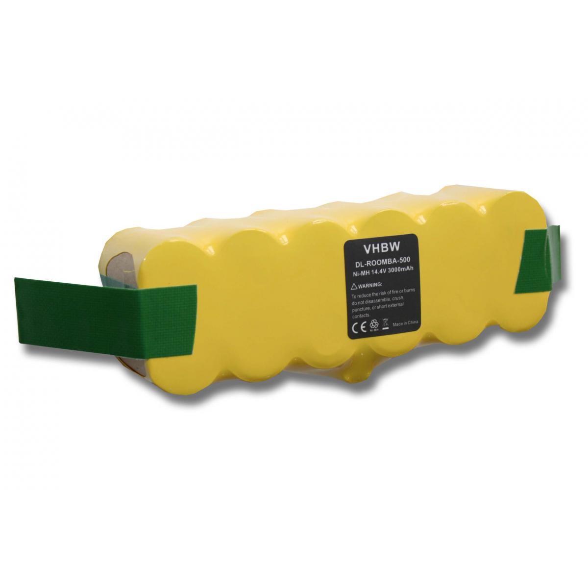 Vhbw vhbw batterie Ni-MH 3000mAh (14.4V) compatible avec iRobot Roomba 605, 615, 616, 621, 651 aspirateur remplace 11702, D-R