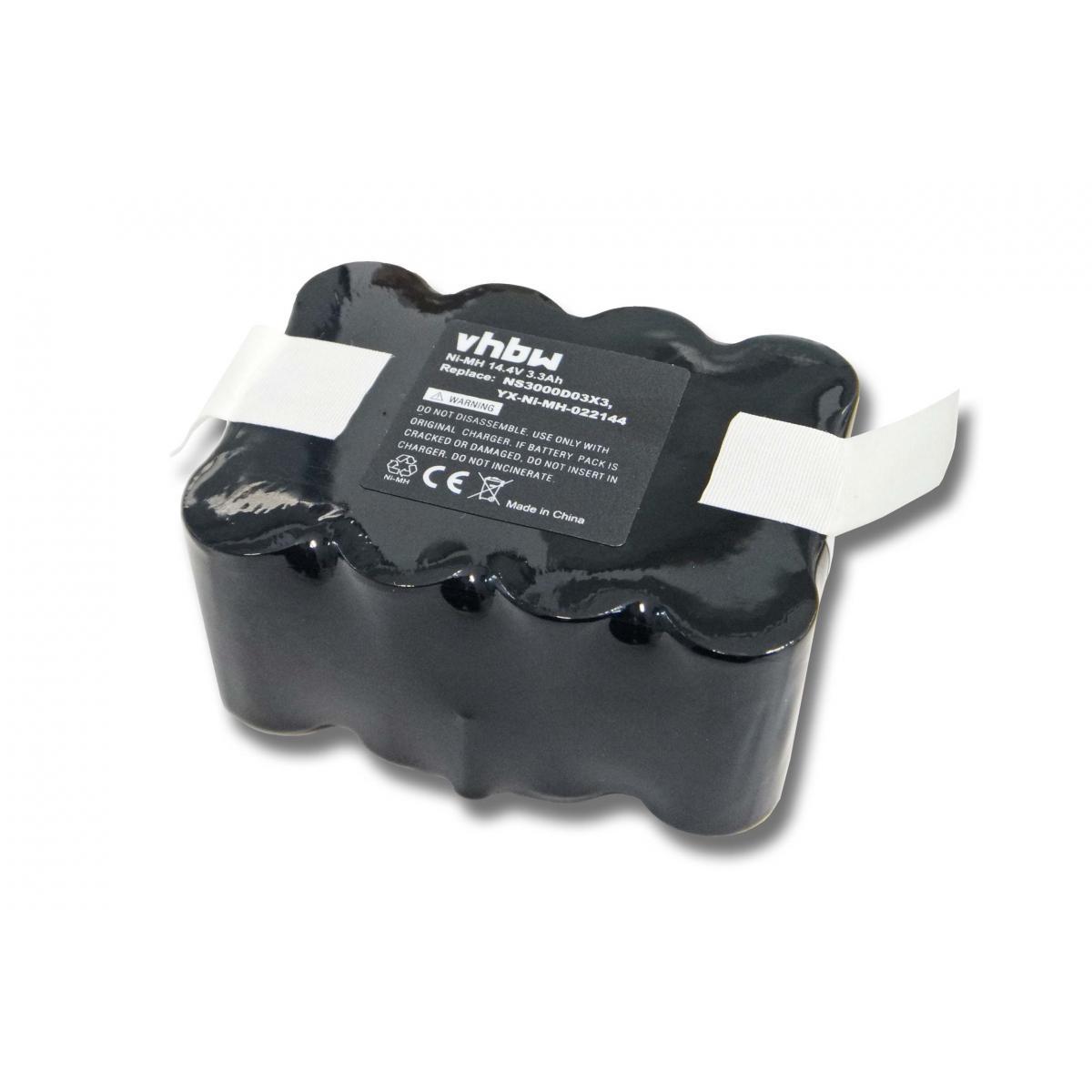 Vhbw vhbw batterie Ni-MH 3300mAh (14.4V) pour appareil électronique compatible avec E.Ziclean Furtiv remplace NS3000D03X3, YX