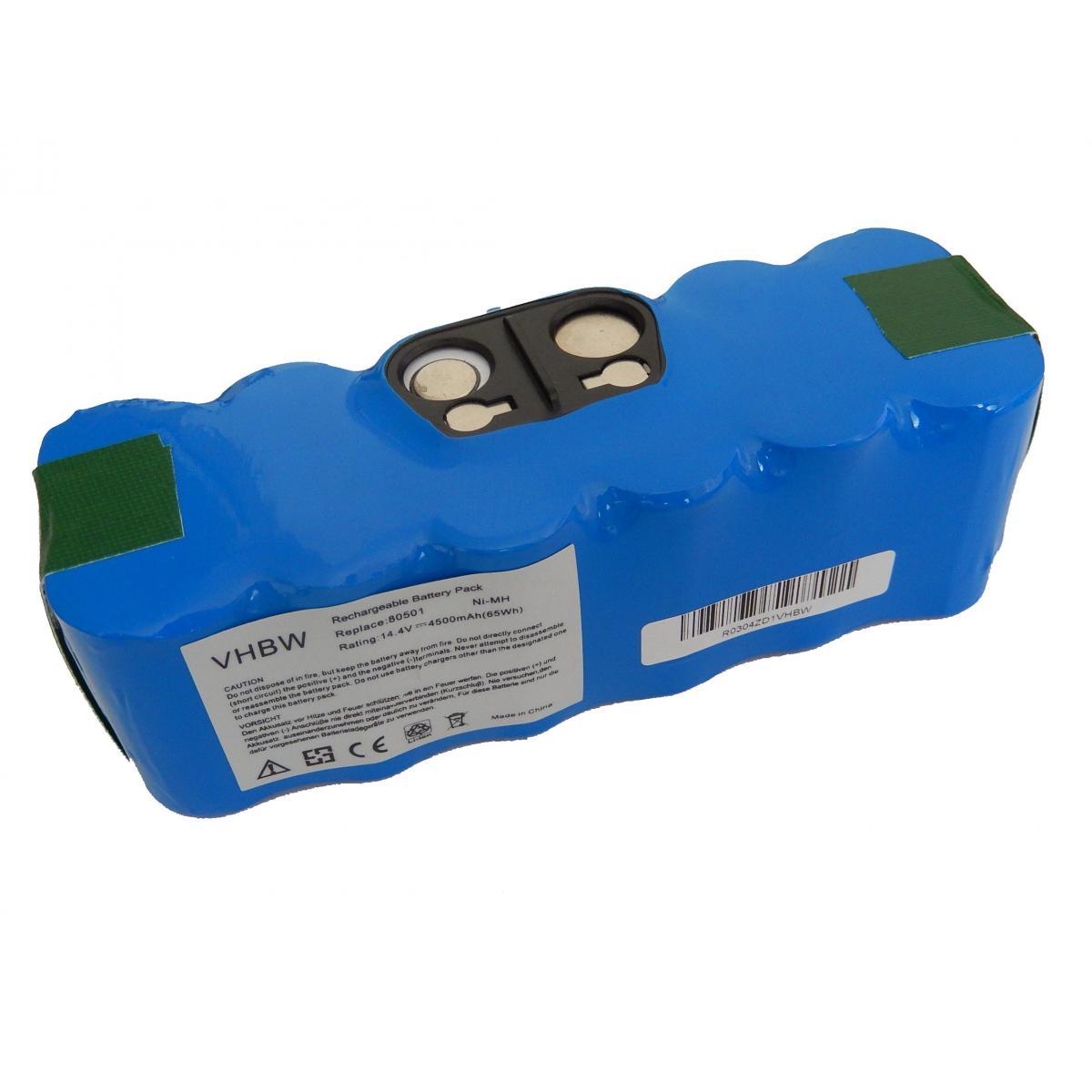 Vhbw vhbw batterie Ni-MH 4500mAh (14.4V) compatible avec iRobot Roomba 620, 625, 630, 650 remplace 11702, GD-Roomba-500, VAC-