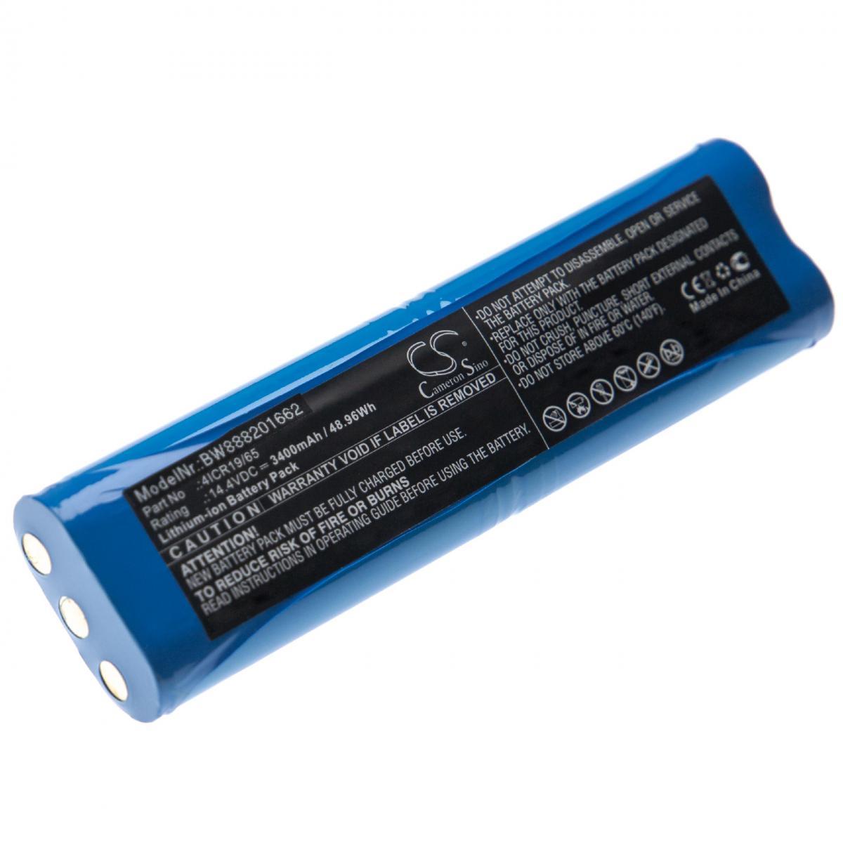 Vhbw vhbw batterie remplace Philips 4ICR19/65, 1605A, 1605C, 1605R, 1605W, FC8810, FC8820 pour aspirateur Home Cleaner (3400m