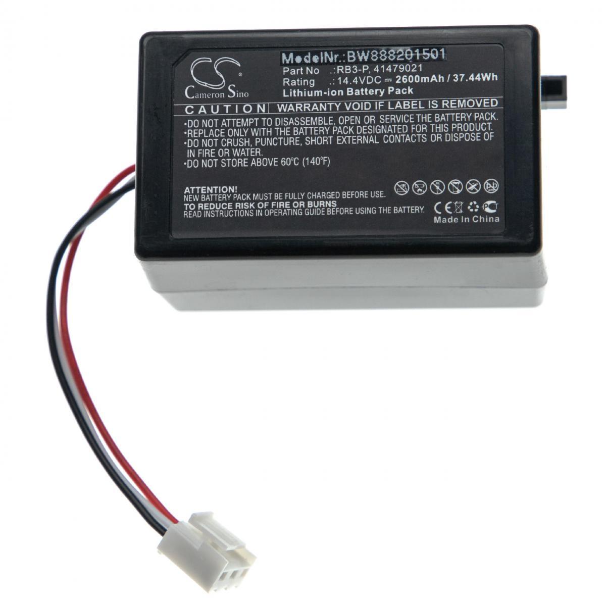 Vhbw vhbw batterie remplace Toshiba RB3-P, 41479021 pour aspirateur Home Cleaner (2600mAh, 14,4V, Li-Ion)
