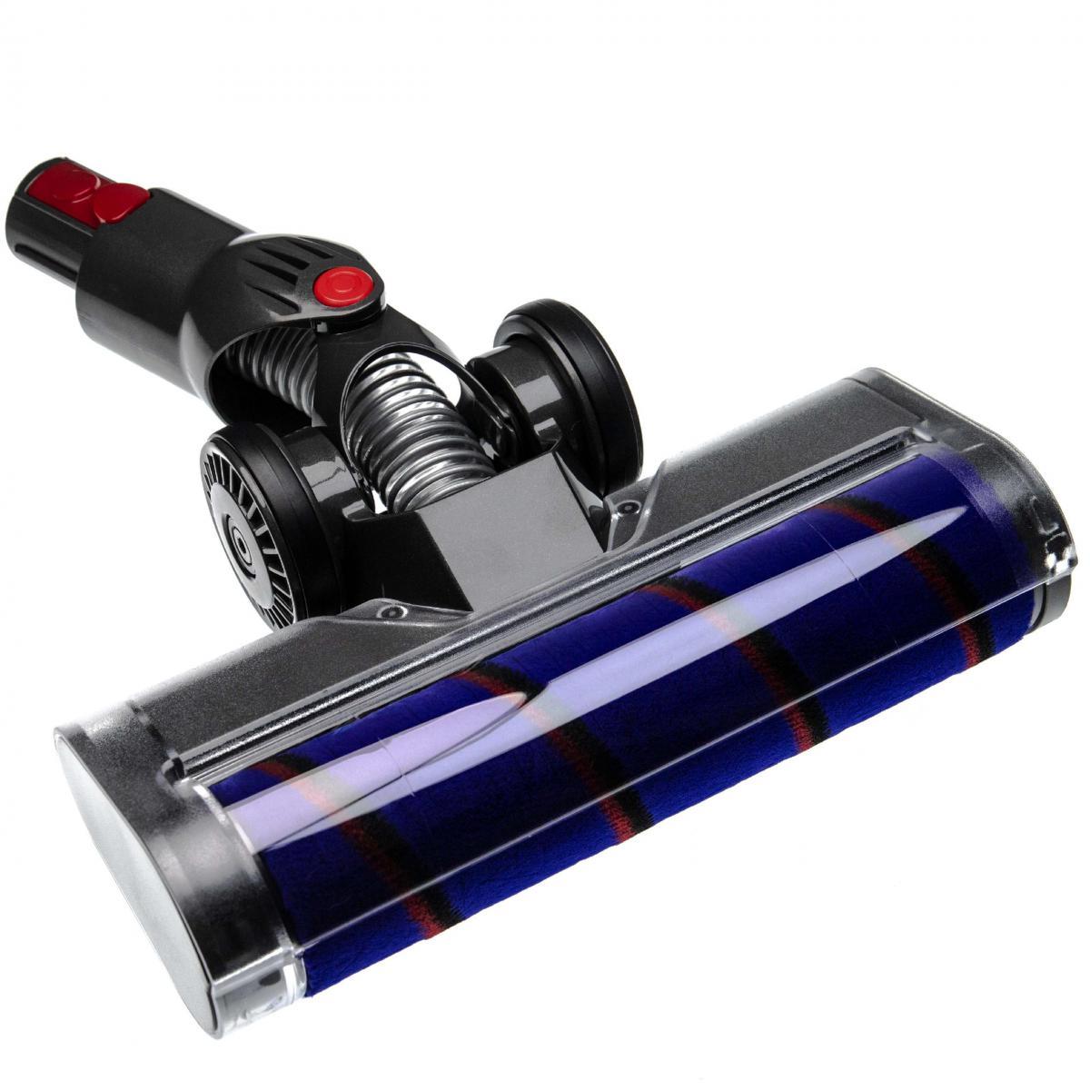 Vhbw vhbw buse de sol buse soft remplace Dyson 966489-08, 966489-11 pour aspirateur - gris / lilas / rouge / noir 25cm avec m