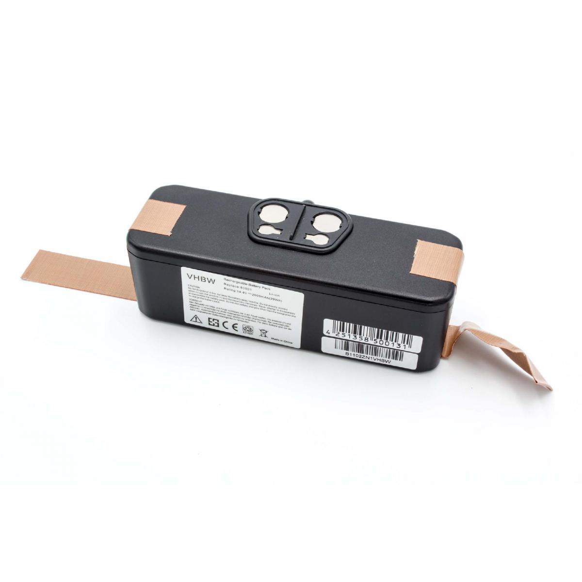 Vhbw vhbw Li-Ion Batterie 2000mAh (14.4V) compatibile avec Klarstein Cleanmate aspirateur remplace 11702, VAC-500NMH-33.