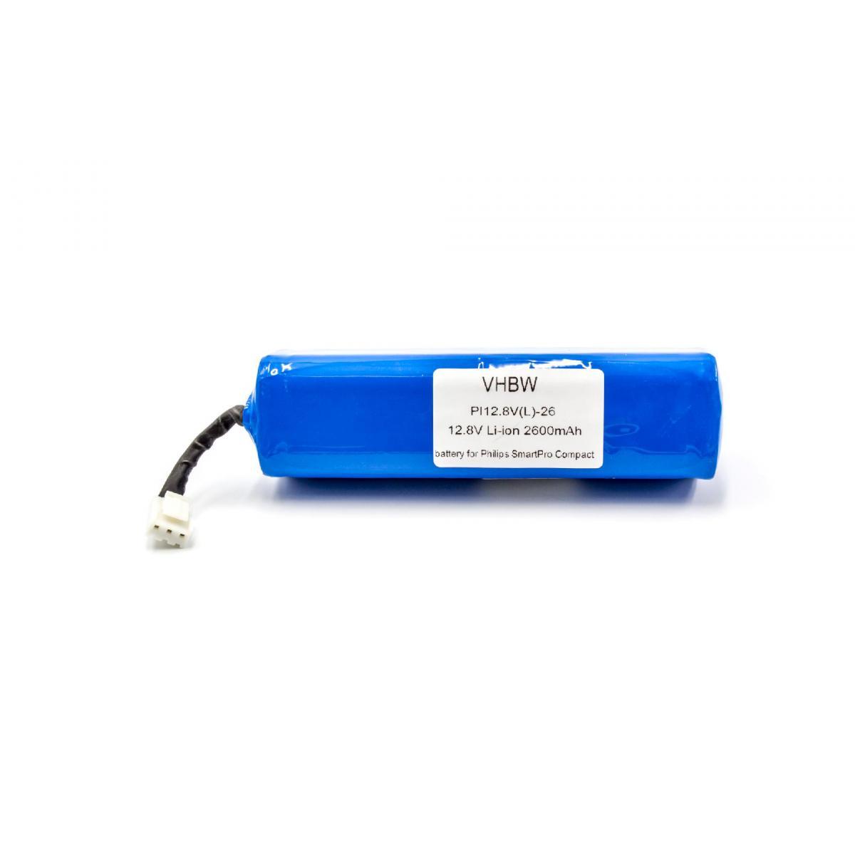 Vhbw vhbw Li-Ion batterie 2600mAh (12.8V) pour Home Cleaner robots domestiques Philips Smartpro Compact FC8710