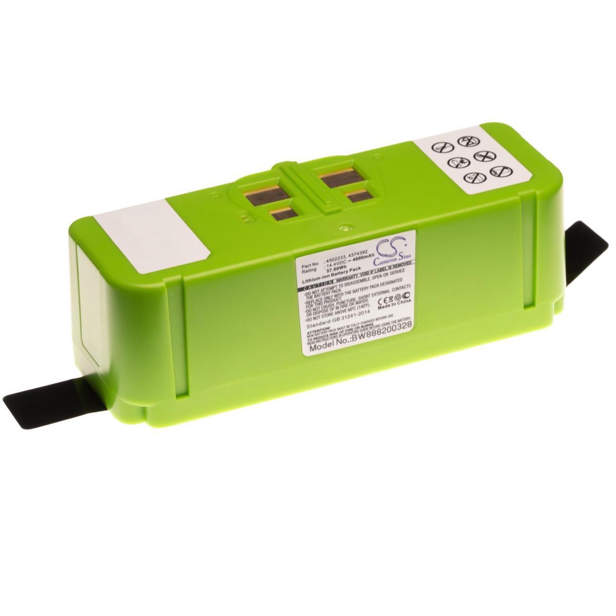 Vhbw vhbw Li-Ion batterie 4000mAh (14.4V) compatible avec iRobot Roomba 614, 615, 640, 652, 665, 670, 671, 675, 677, 680, 681