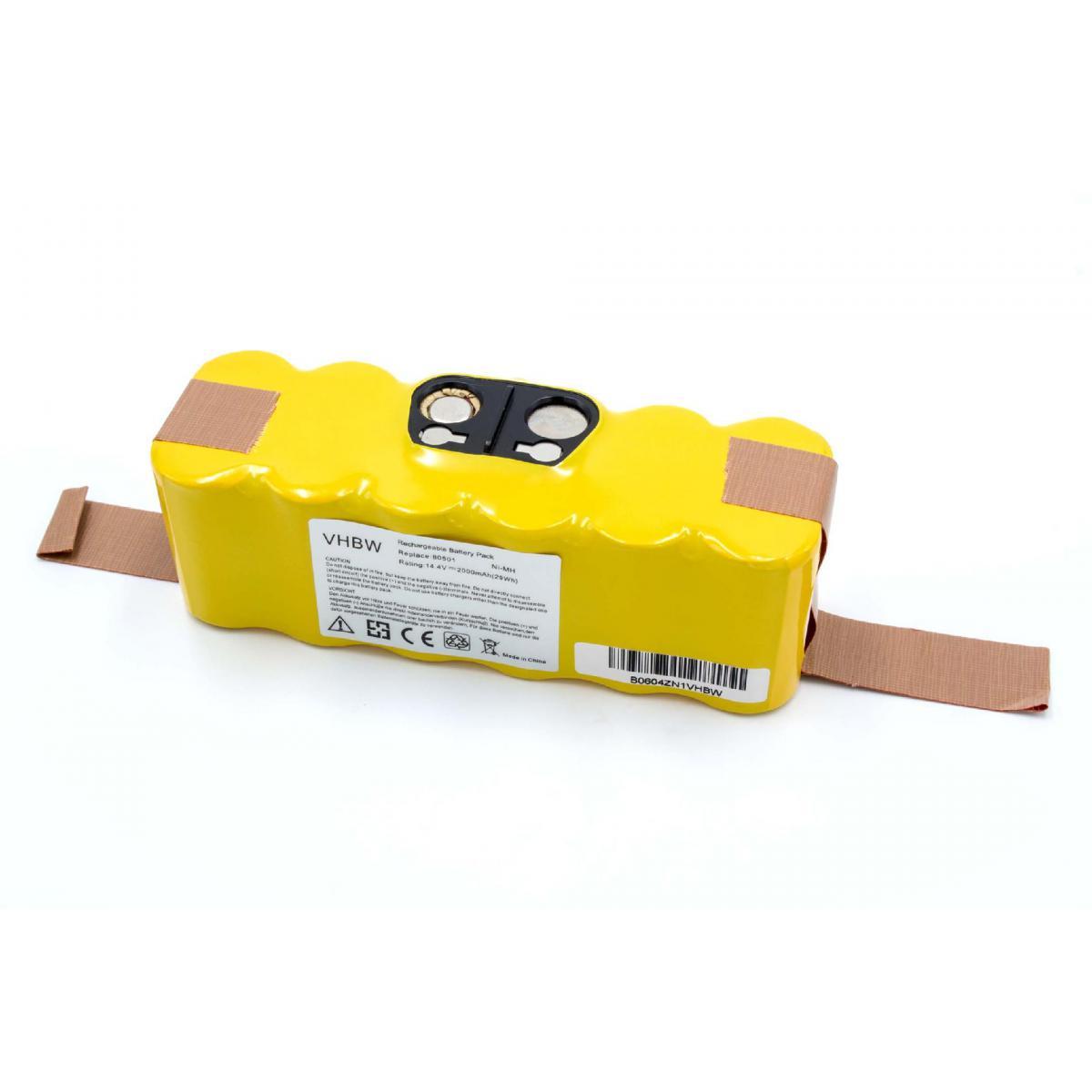 Vhbw vhbw NiMH Batterie 2000mAh compatible avec iRobot Roomba 581, 582, 583, 590, 605, 610, 615, 616, 620, 621, 625, 630 remp