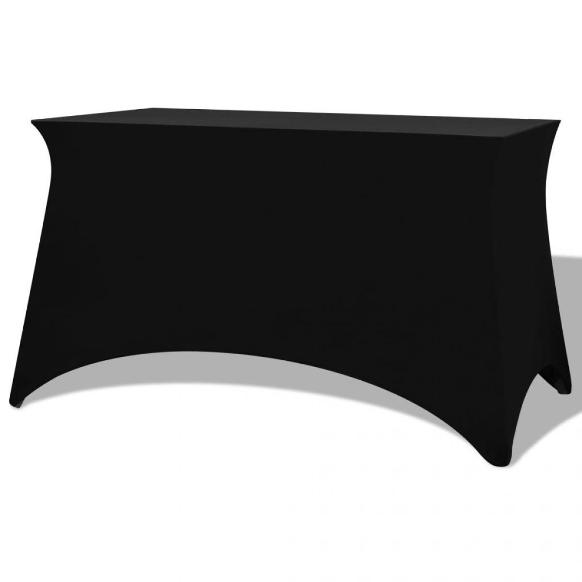 Vidaxl Housses extensibles pour table 2 pièces 183 x 76 x 74 cm Noir - Noir