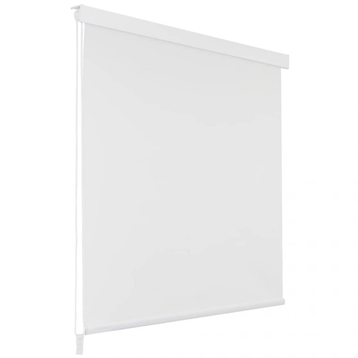Vidaxl Store roulant de douche 100 x 240 cm Blanc - Maison et jardin/Accessoires de salle de bain/Rideaux de douche   Blanc - B