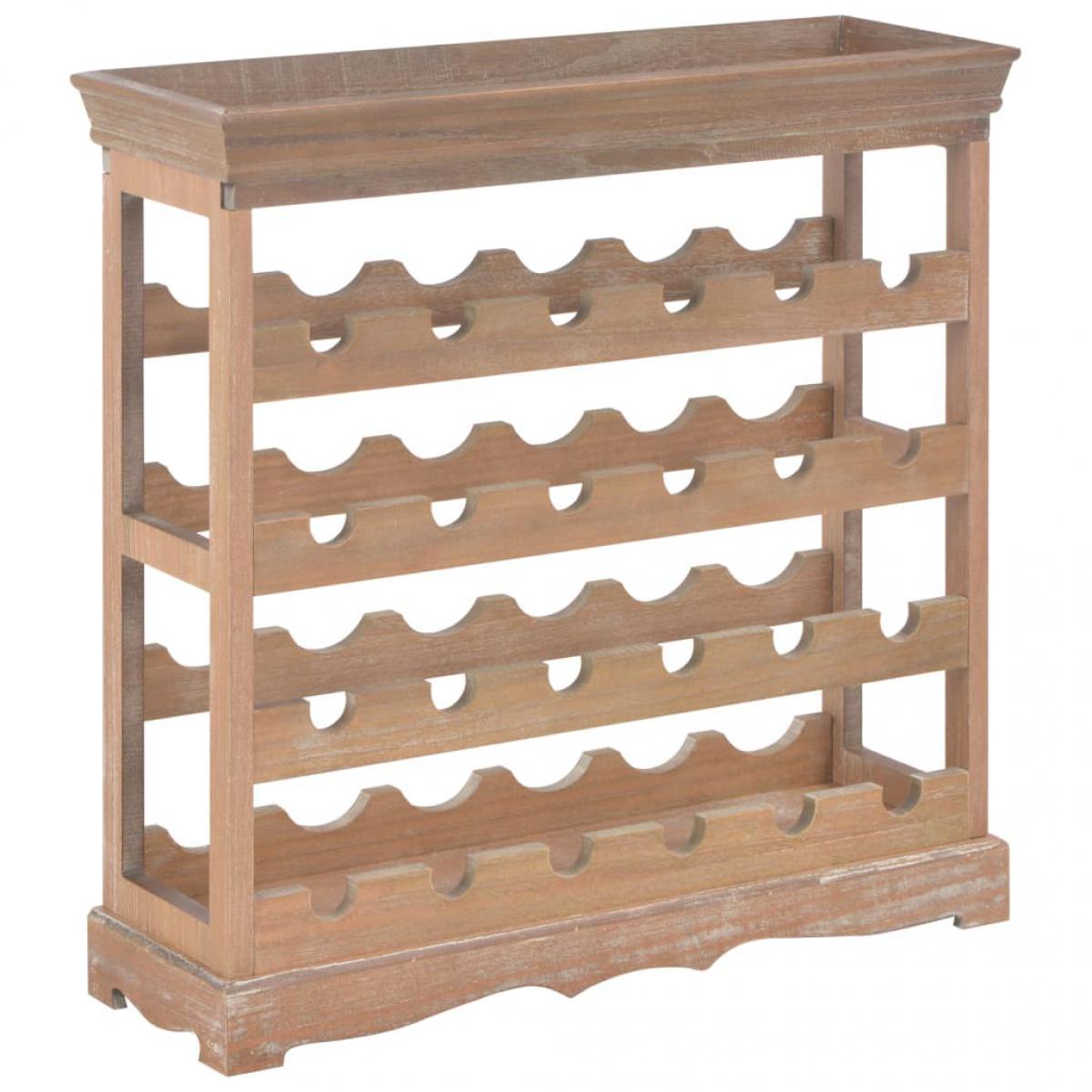Vidaxl vidaXL Armoire à vin Marron 70 x 22,5 x 70,5 cm MDF