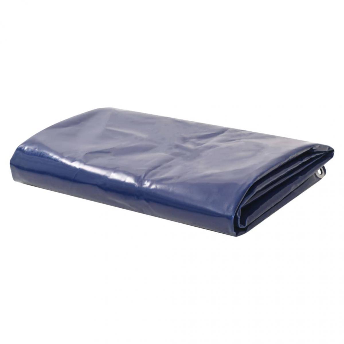Vidaxl vidaXL Bâche 650 g / m² 1,5 x 10 m Bleu