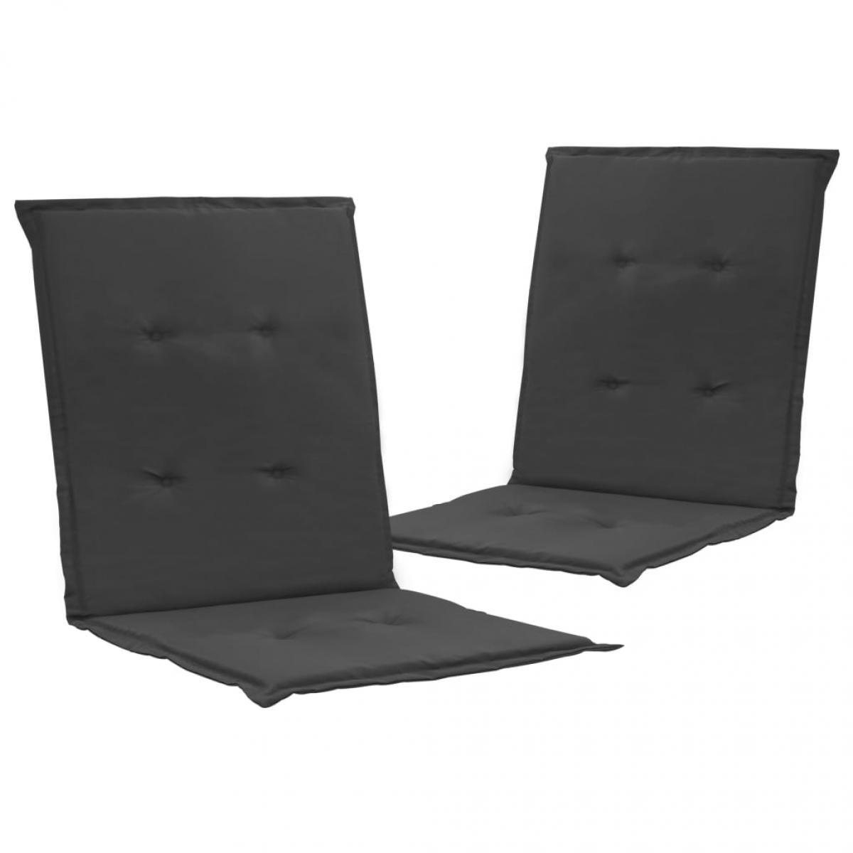Vidaxl vidaXL Coussins de chaise de jardin 2 pcs Anthracite 100x50x3 cm