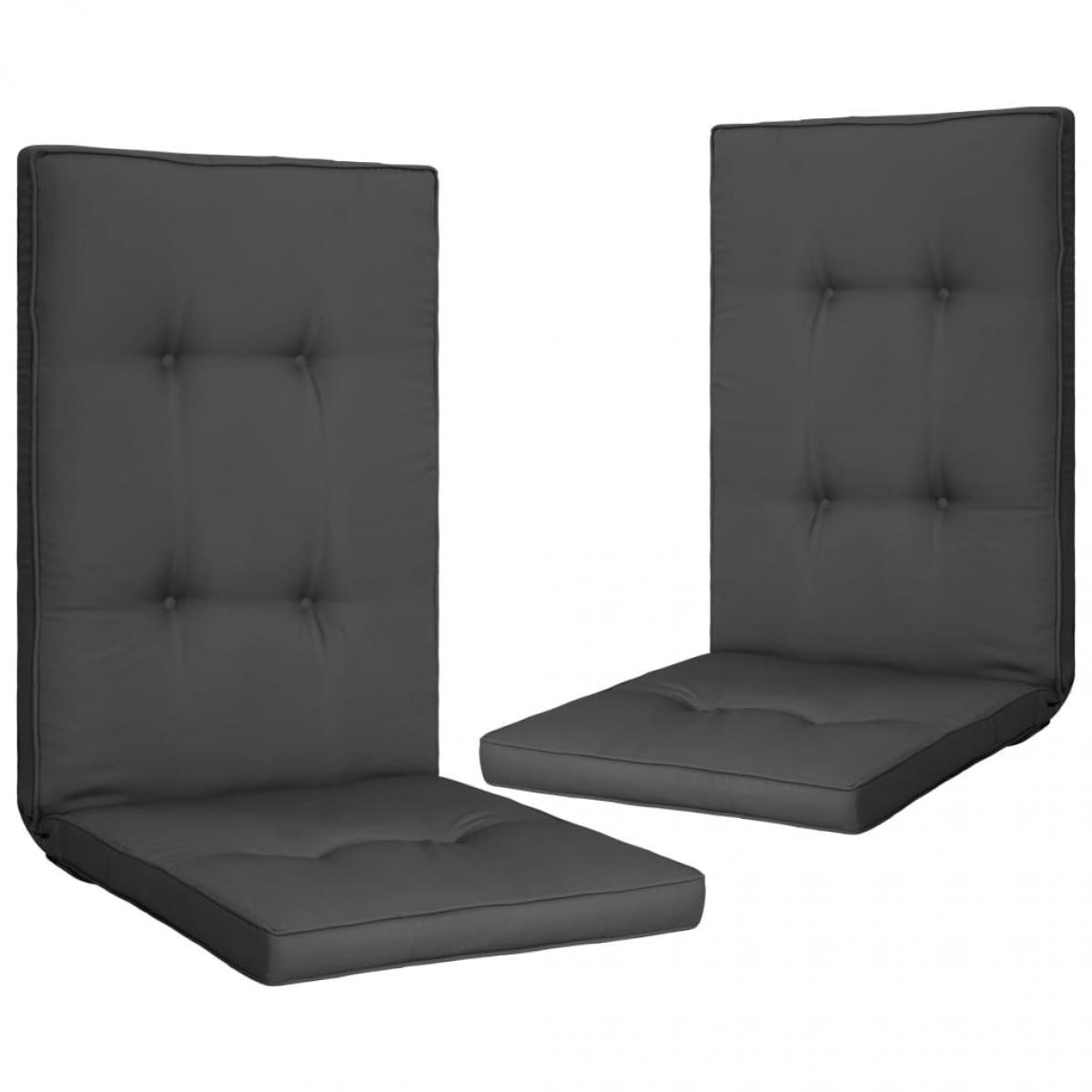 Vidaxl vidaXL Coussins de chaise de jardin 2 pcs Anthracite 120x50x5 cm