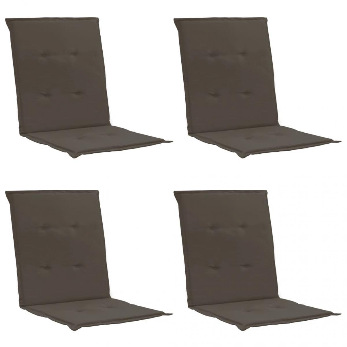 Vidaxl vidaXL Coussins de chaise de jardin 4 pcs Anthracite 100x50x3 cm
