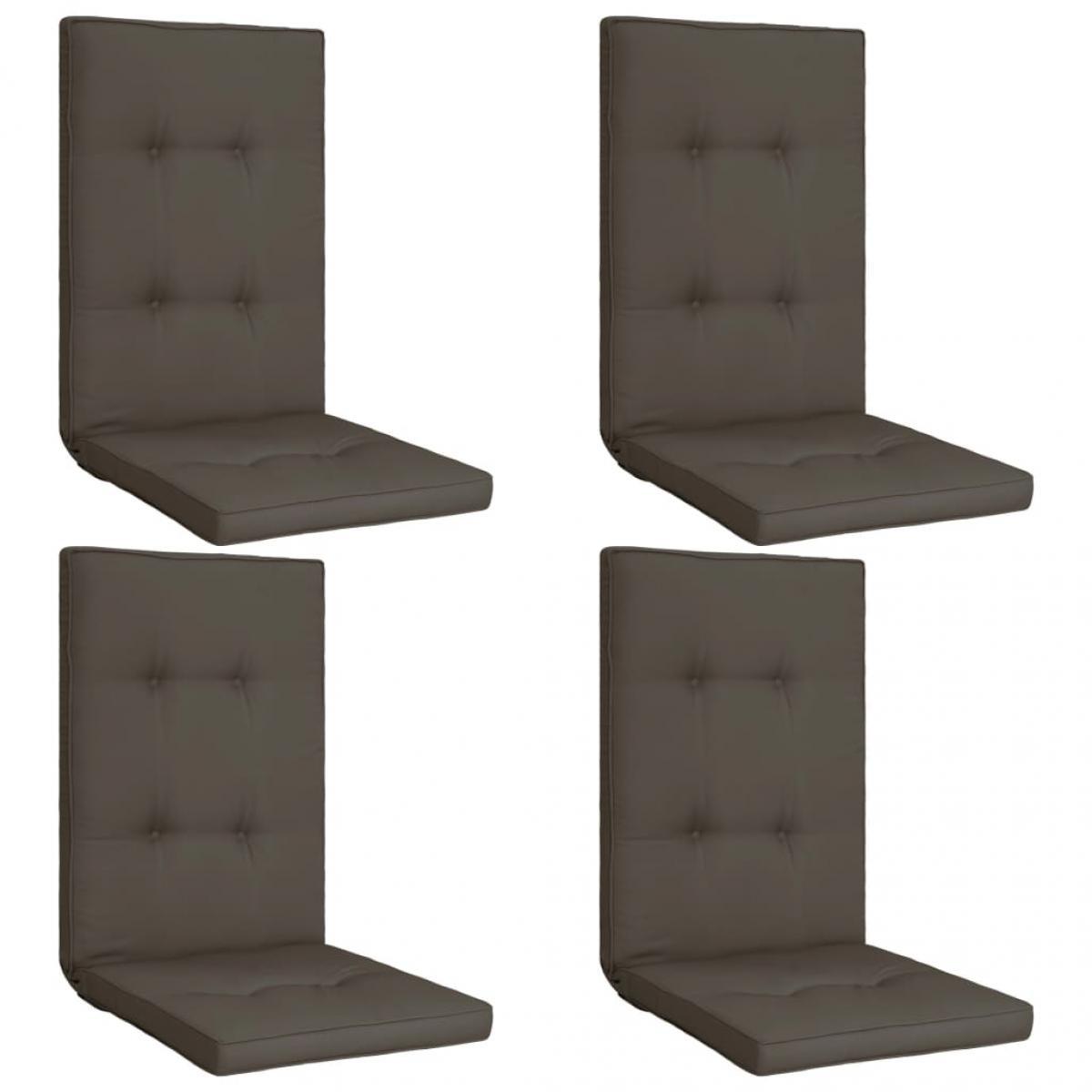 Vidaxl vidaXL Coussins de chaise de jardin 4 pcs Anthracite 120x50x5 cm