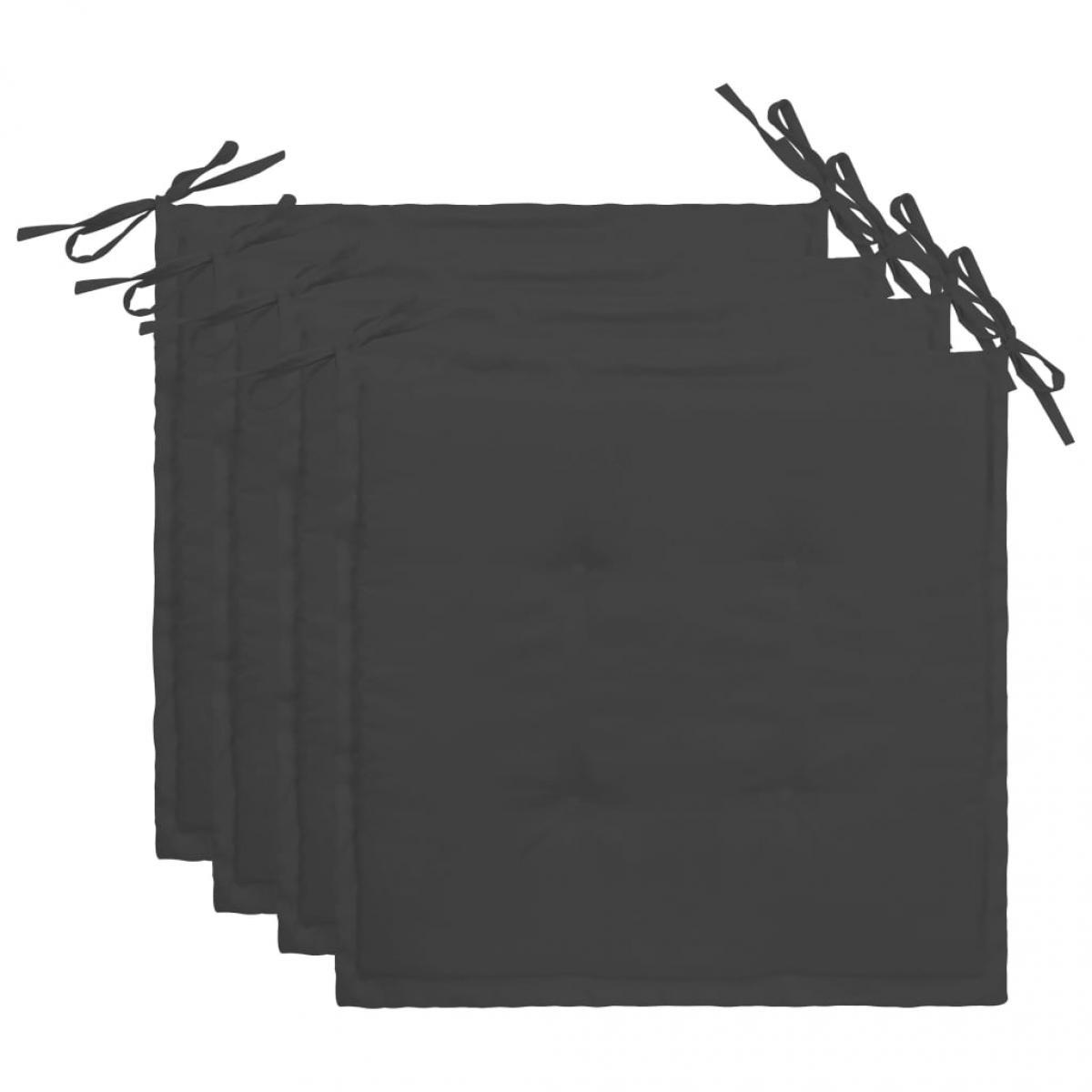 Vidaxl vidaXL Coussins de chaise de jardin 4 pcs Anthracite 40x40x3 cm