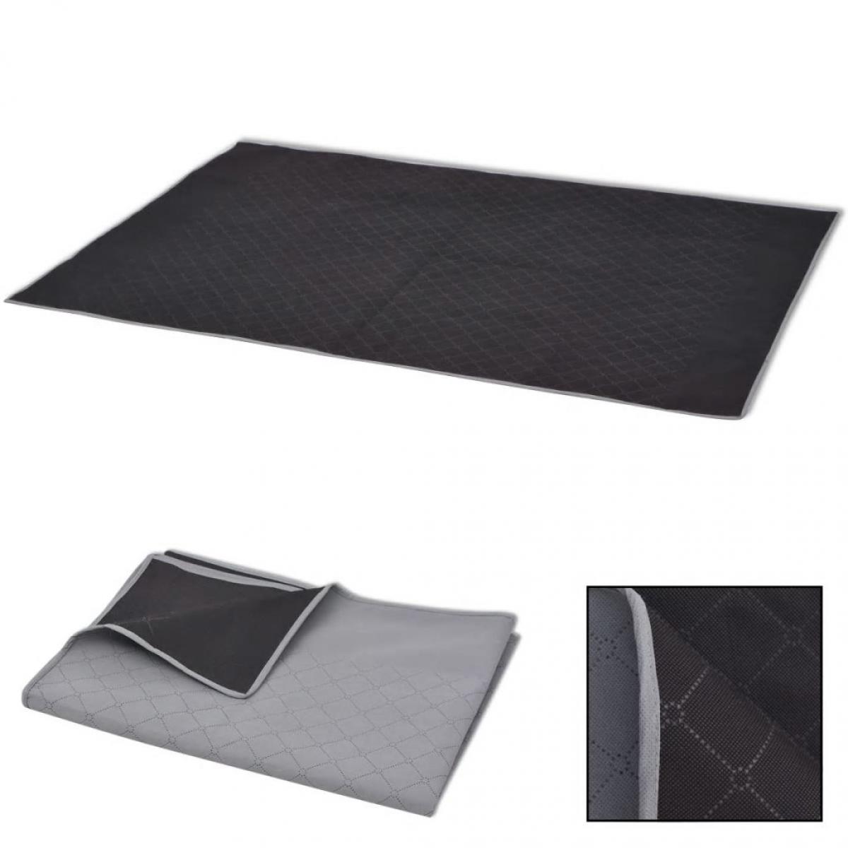 Vidaxl vidaXL Couverture de pique-nique Gris et noir 150 x 200 cm