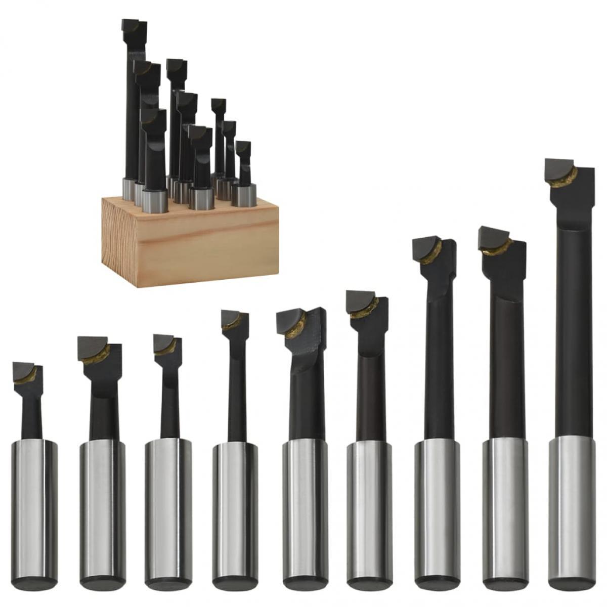 Vidaxl vidaXL Cutters de perçage 9 pcs 12 mm à base de bois