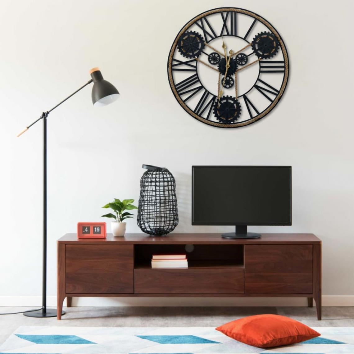 Vidaxl vidaXL Horloge murale Noir 80 cm Métal