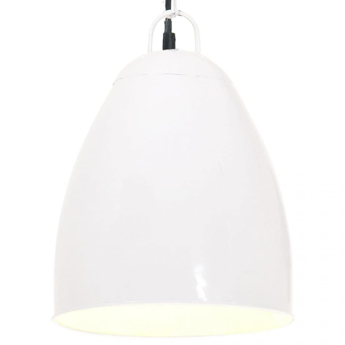 Vidaxl vidaXL Lampe suspendue industrielle 25 W Blanc Rond 32 cm E27