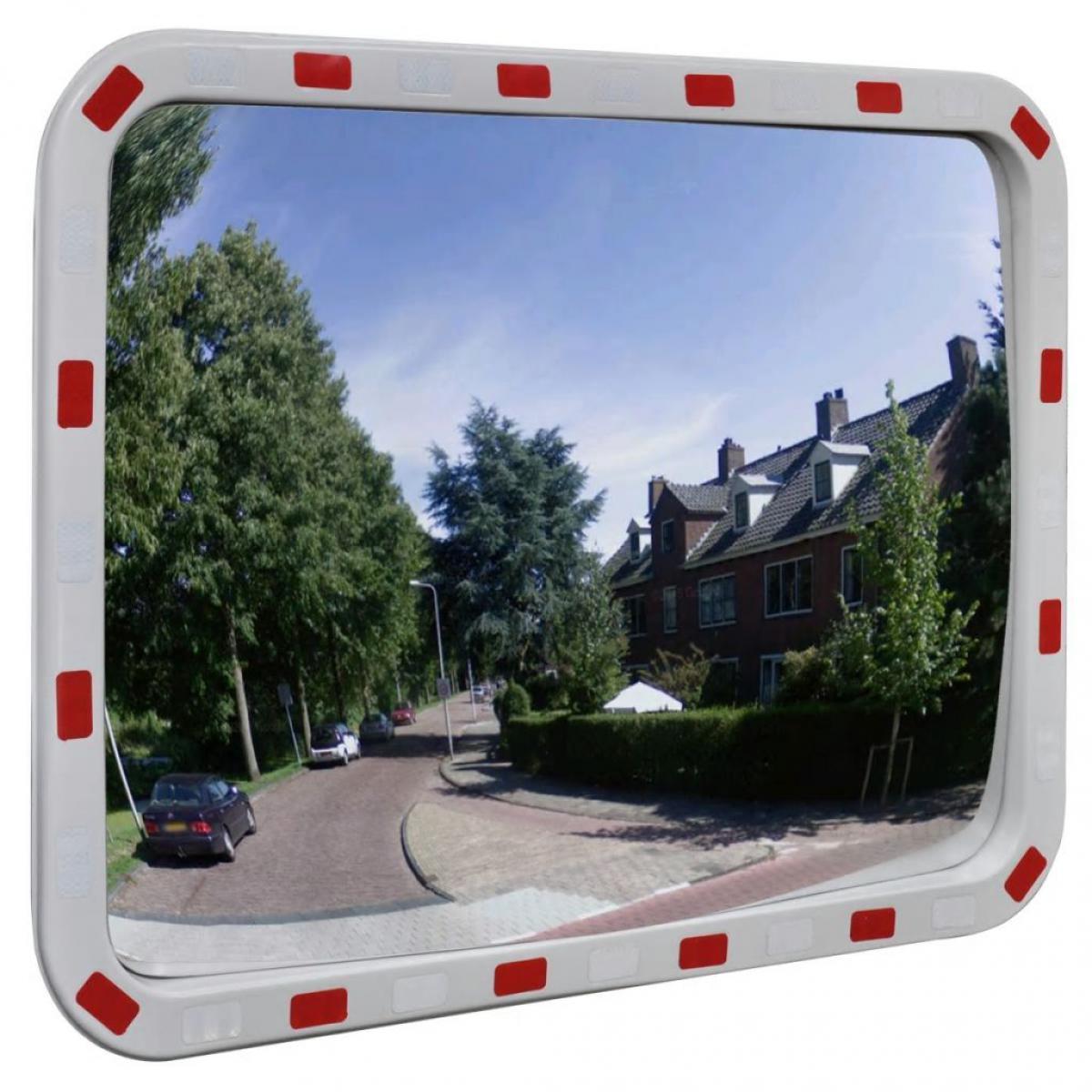 Vidaxl vidaXL Miroir de trafic convexe rectangulaire 60x80cm et réflecteurs