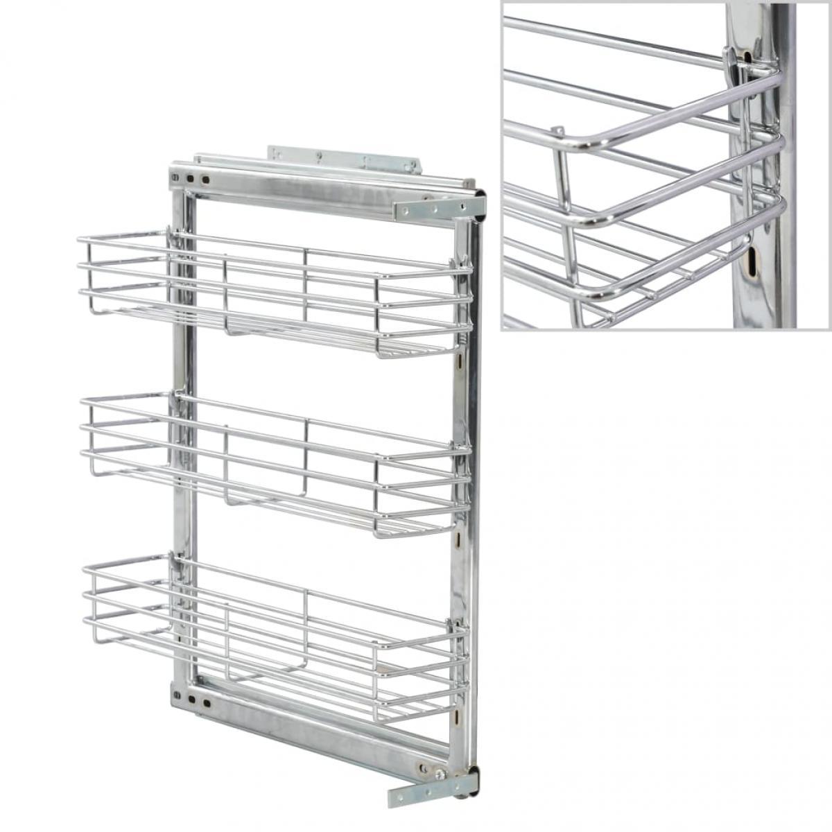 Vidaxl vidaXL Panier à 3 niveaux métallique de cuisine 47x15x56 cm
