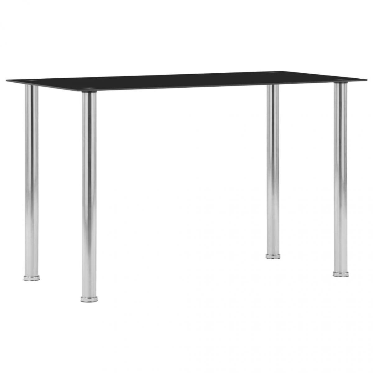 Vidaxl vidaXL Table à dîner Noir 120x60x75 cm Verre trempé