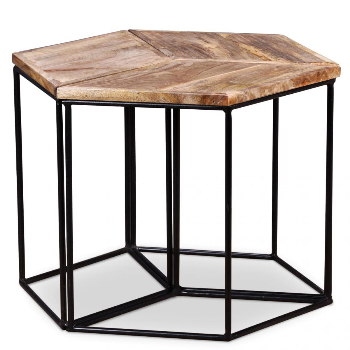 Vidaxl vidaXL Table basse Bois de manguier massif 48 x 48 x 40 cm