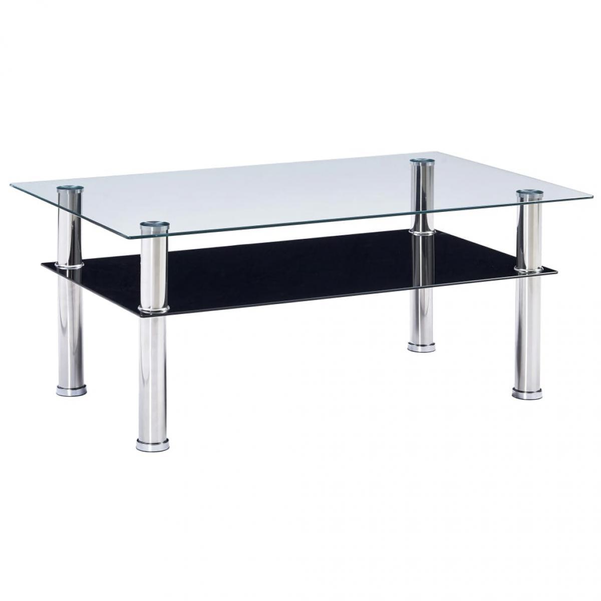 Vidaxl vidaXL Table basse Noir 100x60x42 cm Verre trempé