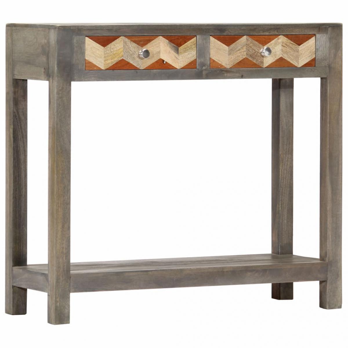Vidaxl vidaXL Table console Gris 86 x 30 x 76 cm Bois de manguier massif