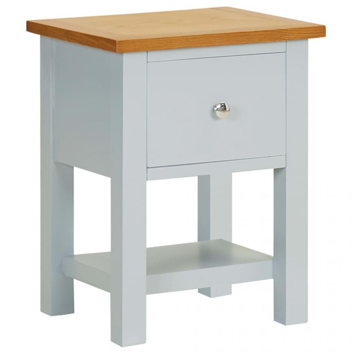 Vidaxl vidaXL Table de chevet 36x30x47 cm Bois de chêne massif