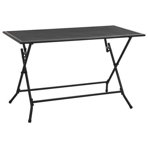 Vidaxl - vidaXL Table pliable en maille 120x60x72 cm Acier Anthracite - Tables de jardin