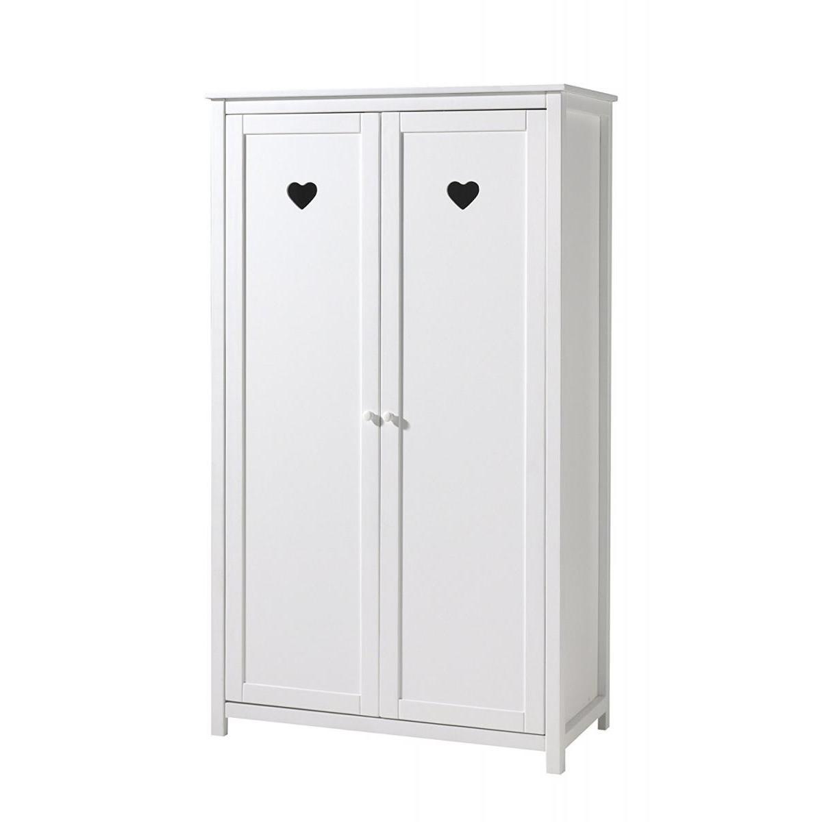 Vipack Vipack AMORI Armoire 2 portes laqué blanc