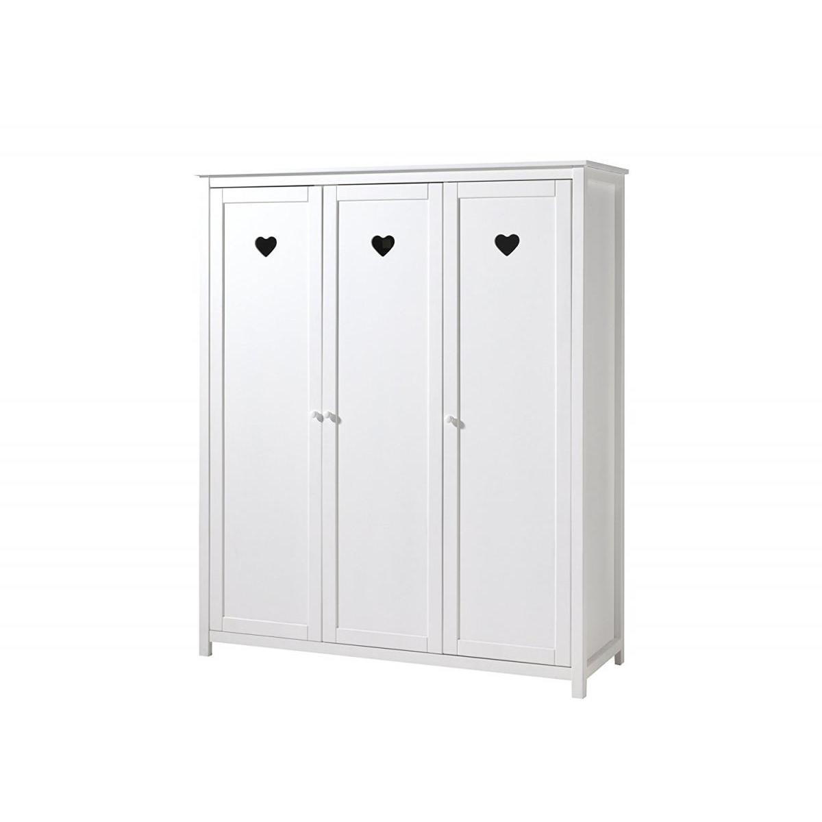 Vipack Vipack AMORI Armoire 3 portes laqué blanc