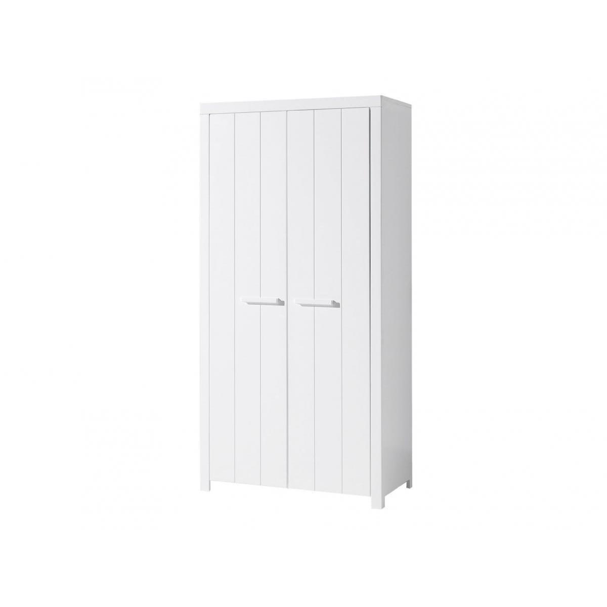 Vipack Vipack ERIK Armoire 2 portes en bois laqué blanc Longueur 100cm