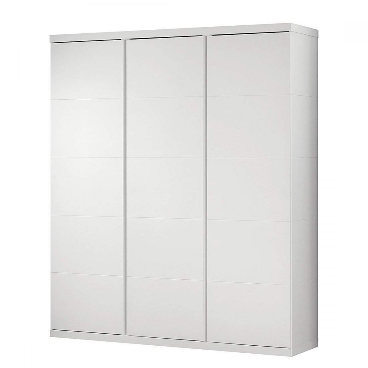 Vipack Vipack LARA Armoire 3 portes laqué blanc