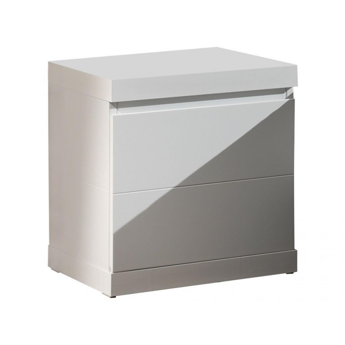 Vipack Vipack LARA Chevet table de nuit laqué blanc