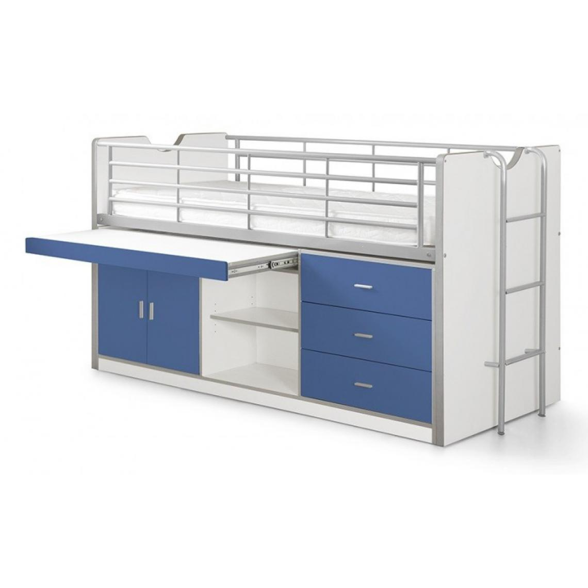 Vipack Vipack Lit Combiné Bureau Bonny Bleu
