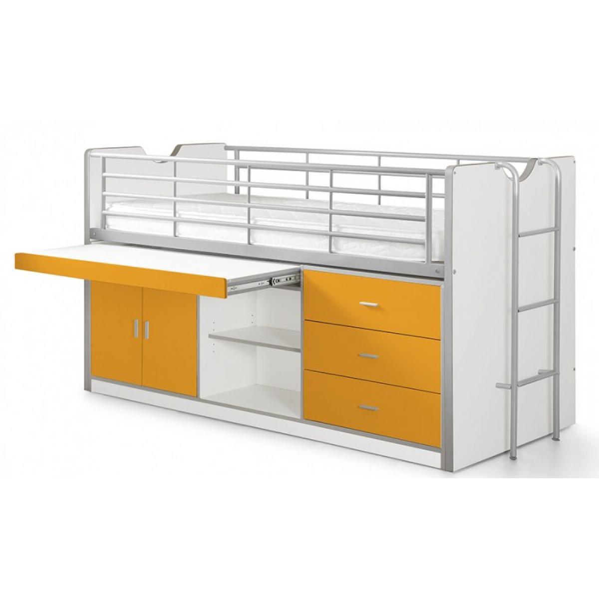 Vipack Vipack Lit Combiné Bureau Bonny Orange