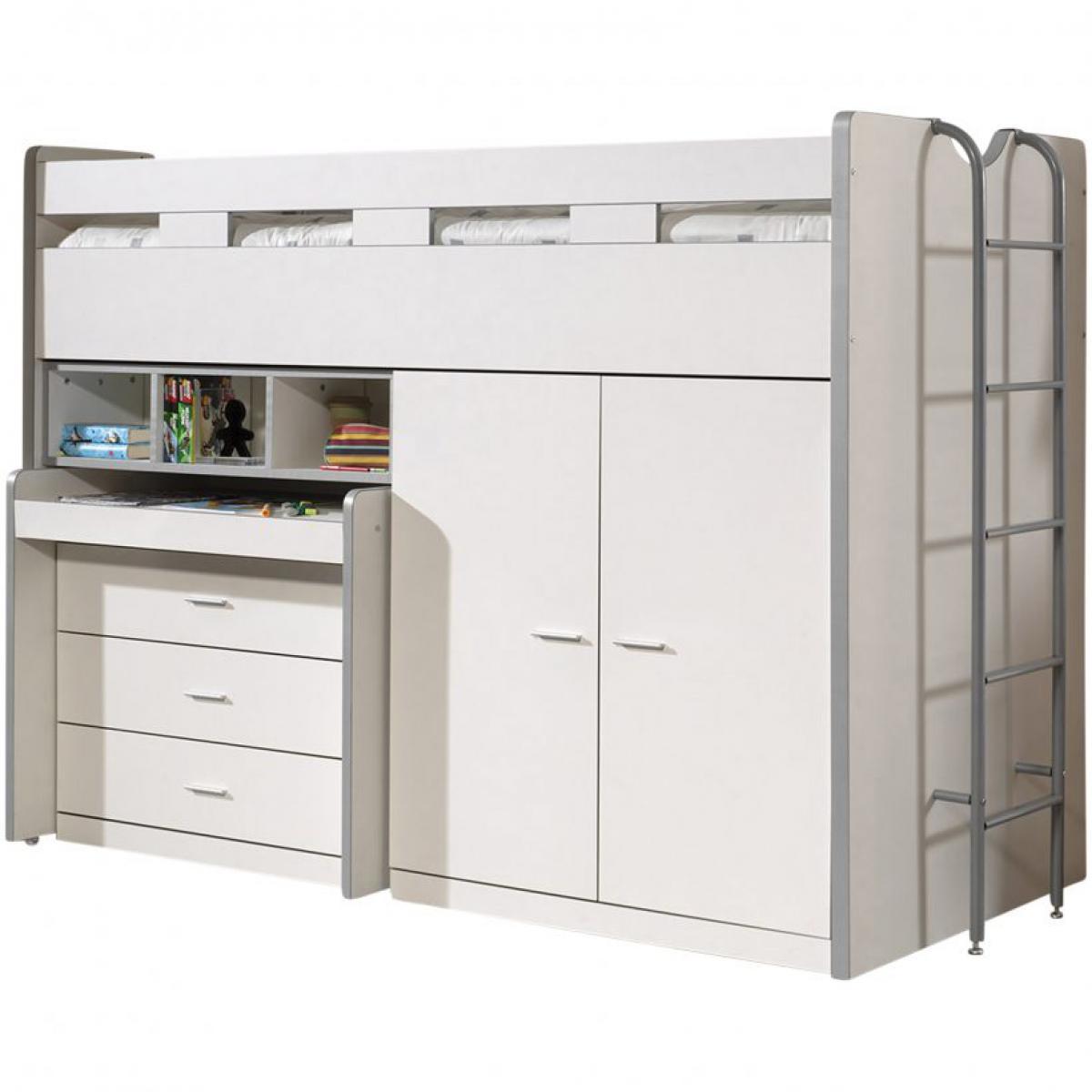 Vipack Vipack Lit mezzanine Bonny 90 x 200 cm Blanc