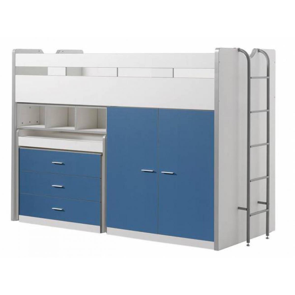Vipack Vipack Lit Mezzanine Bonny 90 x 200 cm Bleu