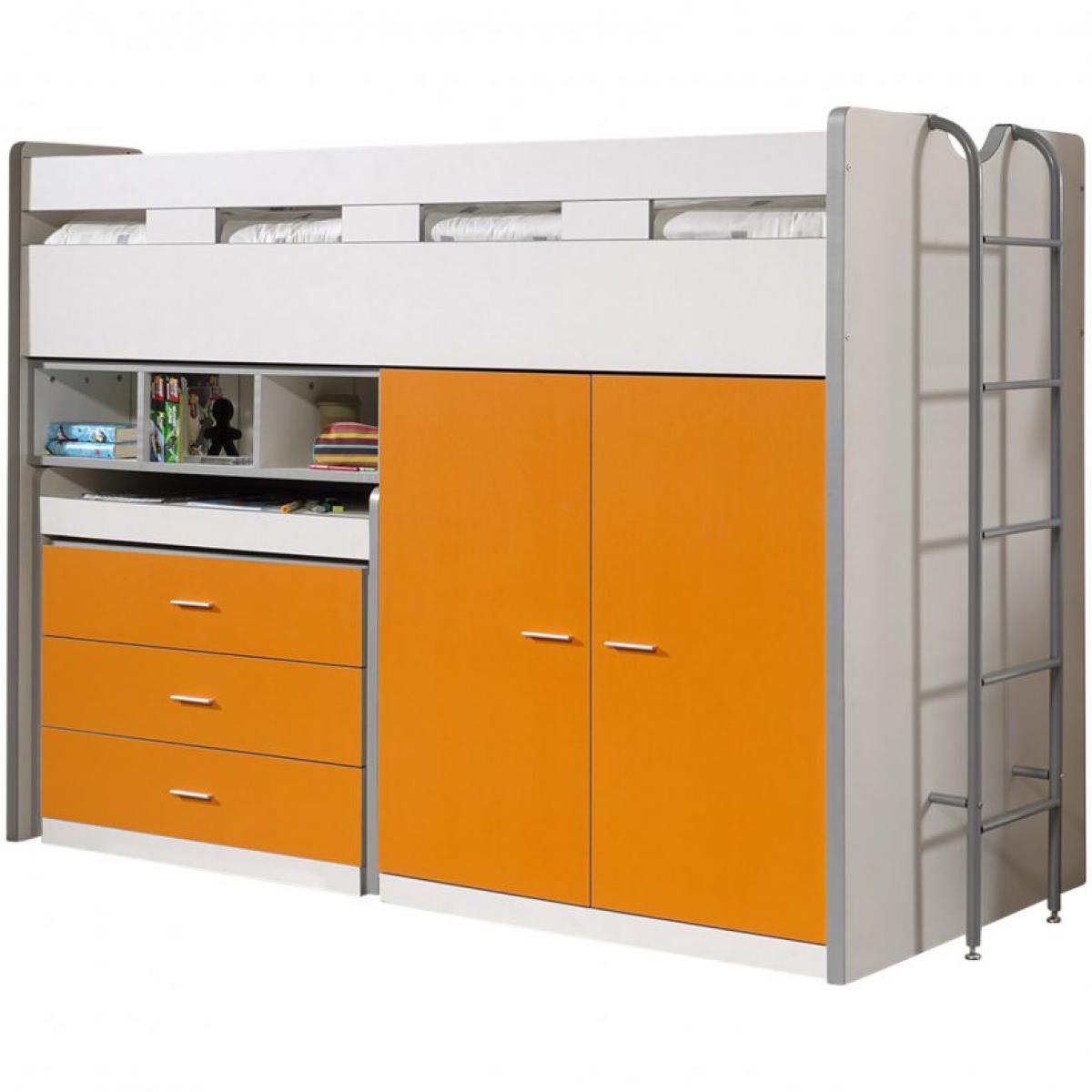 Vipack Vipack Lit mezzanine Bonny 90 x 200 cm Orange
